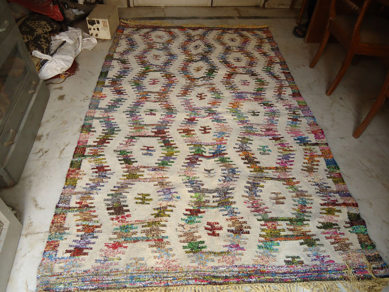 Woolen Cotton Chindi Rug (Item Code : RUWCC008)