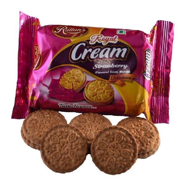 Royal Cream Strawberry Biscuits 03