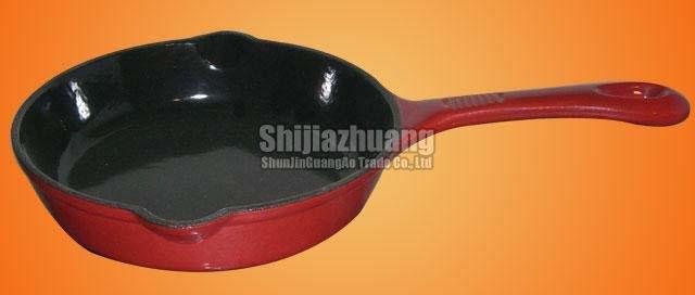 15cm Round Red Enamel Fry Pan
