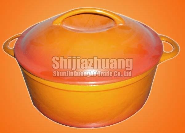 Enameled Orange Casserole