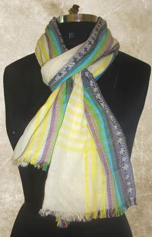 Hand Woven Cotton Scarves