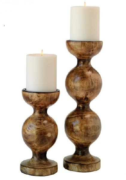 Wooden Candle Stands 04