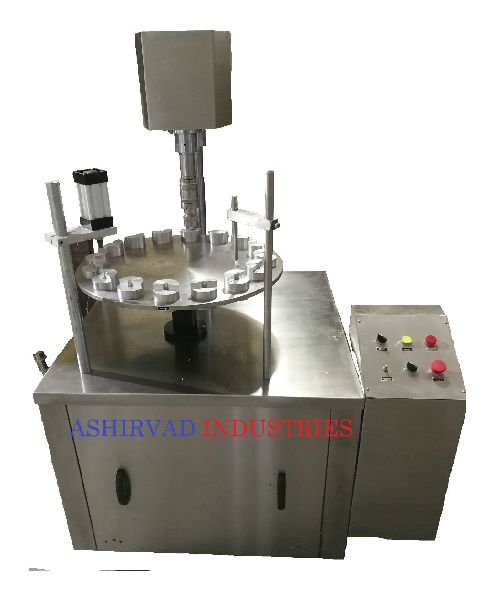 Semi Automatic Rotary Type Vial Filling and Capping Machine