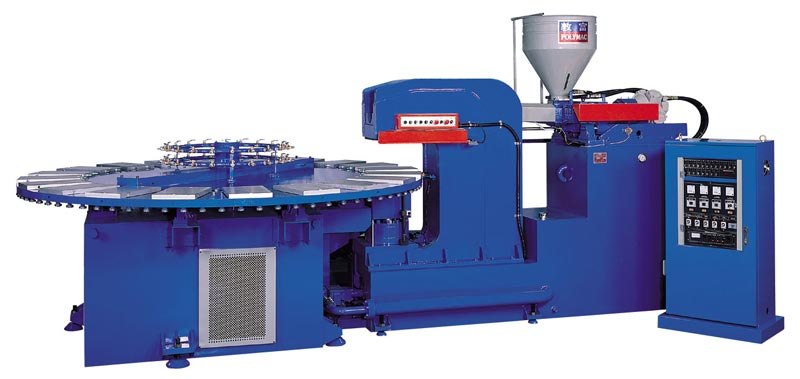 Automatic Air Blowing Plastic Shoes Injection Machine Fb 168