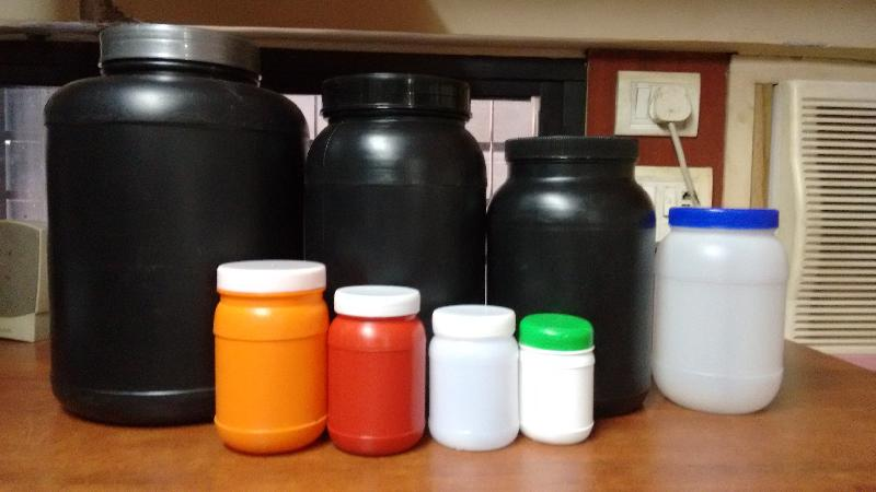 Pharmaceutical Round Plastic Jars