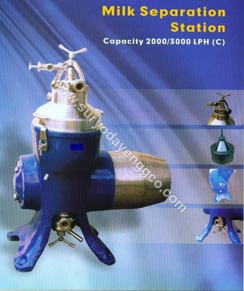 2000-3000 LPH Cream Separator Machine