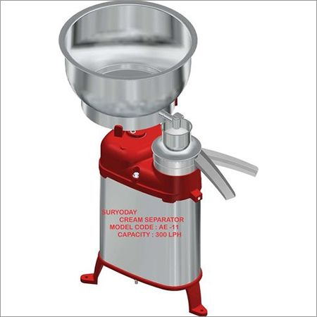300 LPH Cream Separator Machine