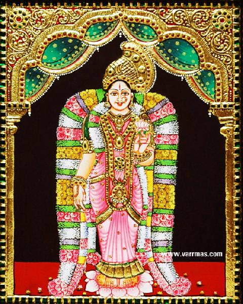 Andal Tanjore Painting (10021)