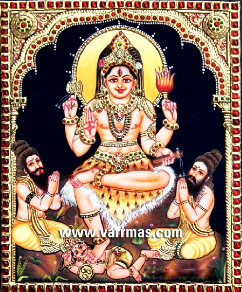 Dakshinamurthy Tanjore Painting (10127)