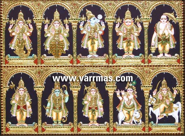 Dasavatharam Tanjore Painting (10132)