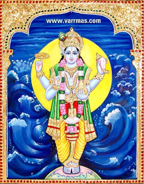 Dhanvantari Tanjore Painting (10205)
