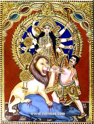 Durga Tanjore Painting (10211)
