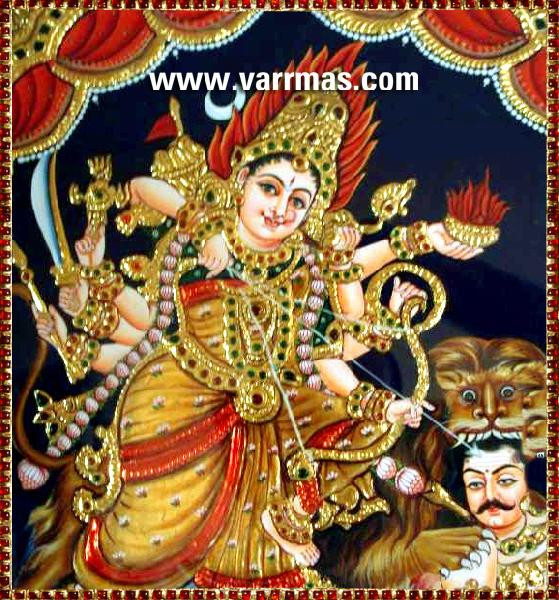 Durga Tanjore Paintings