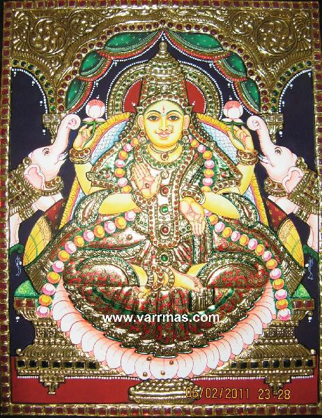 Gajalakshmi Tanjore Painting (10069)