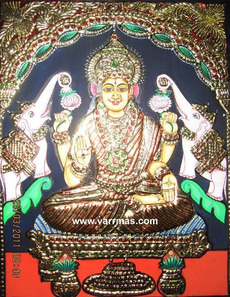 Gajalakshmi Tanjore Painting (10070)