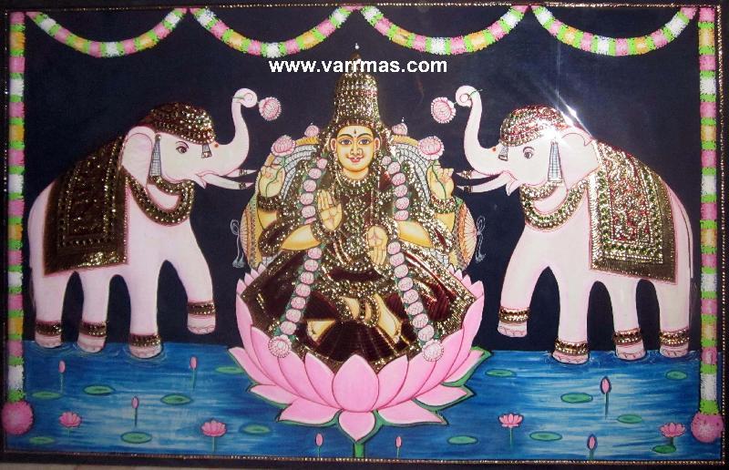 Gajalakshmi Tanjore Painting (10072)