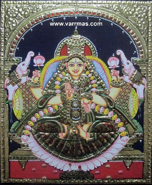 Gajalakshmi Tanjore Painting (10073)