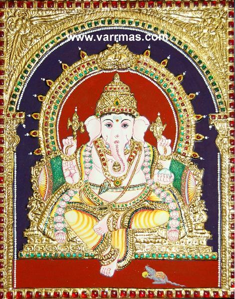 Ganesha Tanjore Painting (10267)