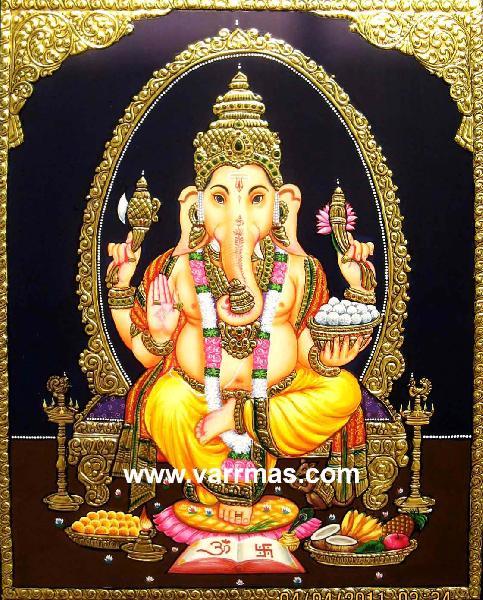 Ganesha Tanjore Painting (10269)
