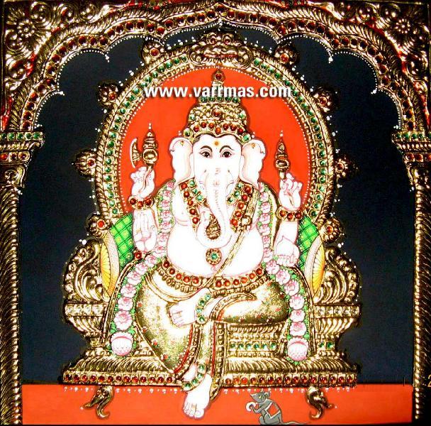 Ganesha Tanjore Painting (10272)