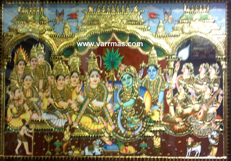 Girija Kalyanam Tanjore Painting (10325)