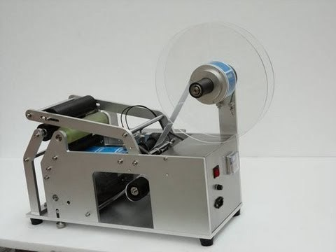 Semi Sticker Labelling Machine for Round Bottles