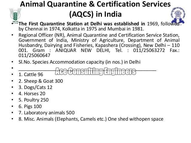 Animal Quarantine & Certification