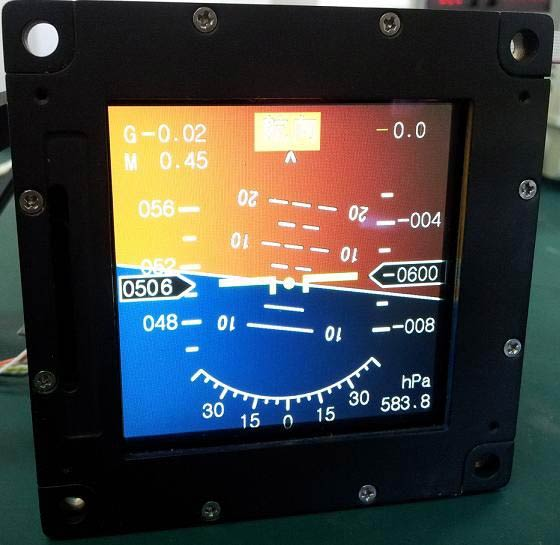 General Rugged Airborne Display Module (LD480.480_034_004_B800)