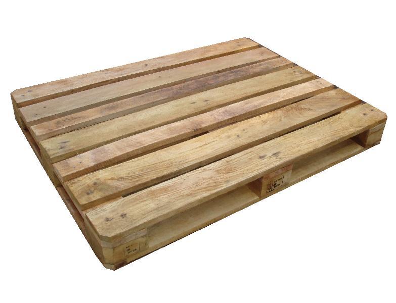 Single Square Rubber Wood Pallets