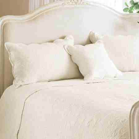 Toulon Floral Woven Cotton Quilted Pillow Sham