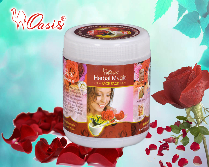 Herbal Magic Rose Face Pack