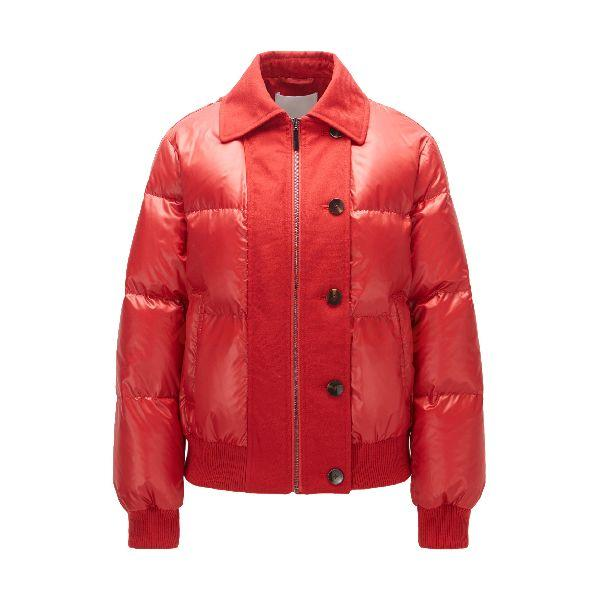 Regular Fit Down Jacket in Water Repellent Fabric