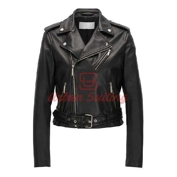 Biker Jacket in Rich Plonge Leather