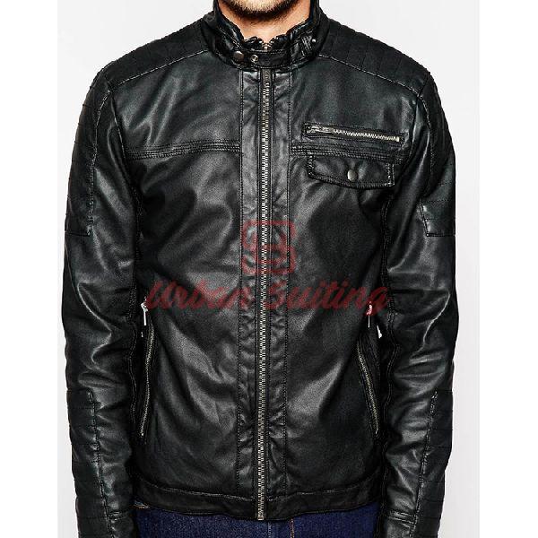 Zip Thru Sheep Leather Jacket