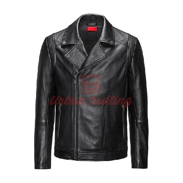 Slim Fit Biker Jacket in Nappa Leather