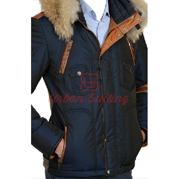 Men Blue Sleeve Strip Style Coat