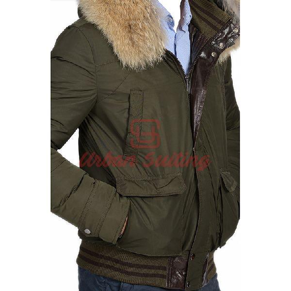 Men Green Coat Jacket