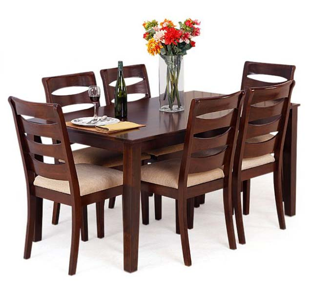 Wooden dining table set contemporary dining table with for Dining table set designs
