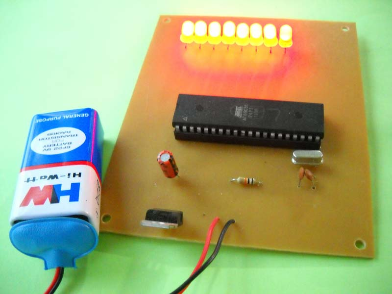 Microcontroller Based LED Multieffect Cheaser