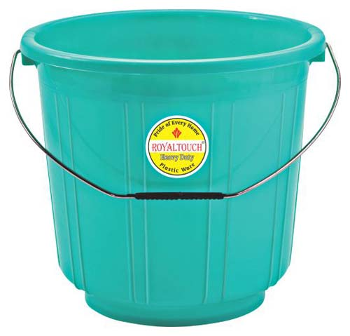 1107 Plastic Striped Bucket