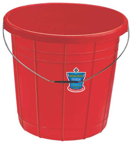 161 Plastic Striped Bucket