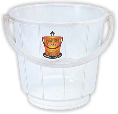 201 White Plastic Striped Bucket