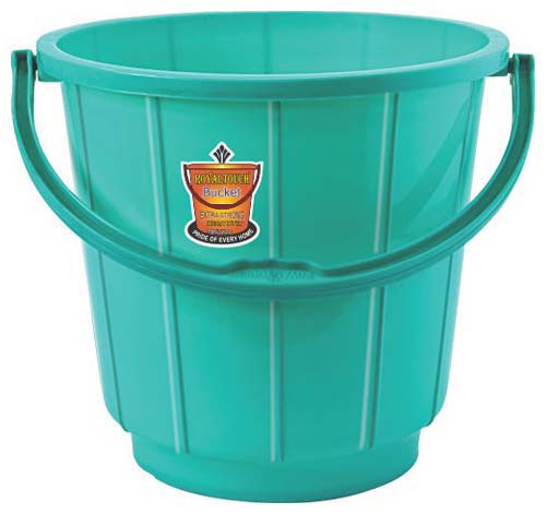 261 Plastic Striped Bucket