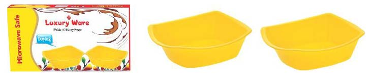 Microwavable Plastic Bowl Set 02
