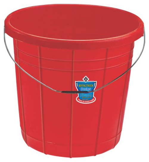 Plastic Striped Buckets