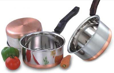 Cooks Copper Bottom 10 Piece Cookware Set