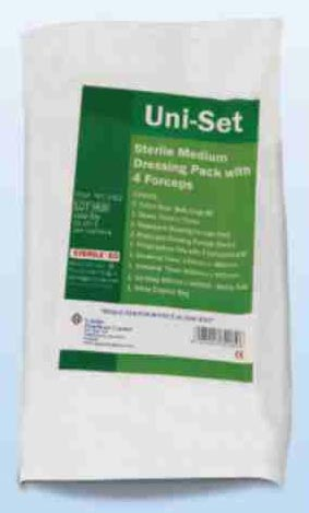 Sterile Dressing Pack with 4 Forceps