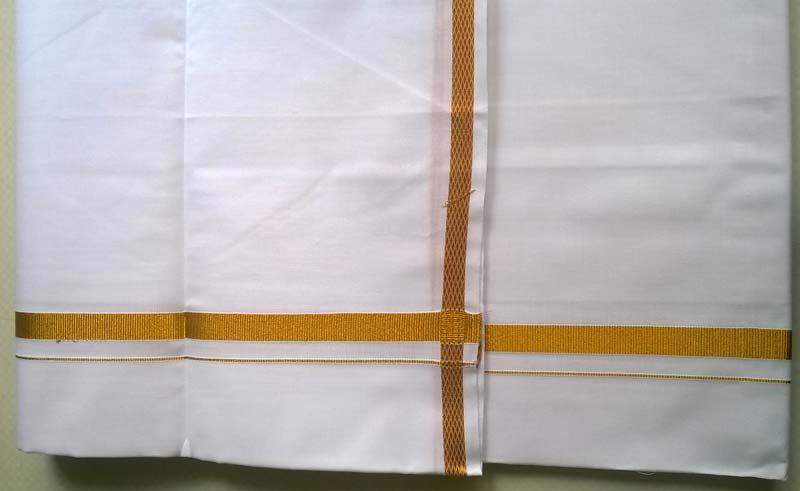 Cotton White Dhoti