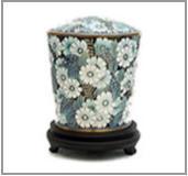 Designer Brass Metal Cremation Urn