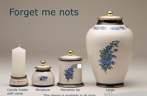 Forget Me Not Pottery Ashes Urn